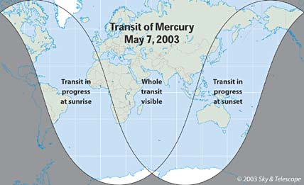 Transit of Mercury Visibility