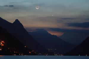 Alpine Moon and Venus