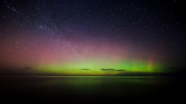Northern Lights over the Headlands