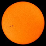 This SOHO shot sunspot group 963.was captured on July 11th by the craft's Michelson Doppler Imager.