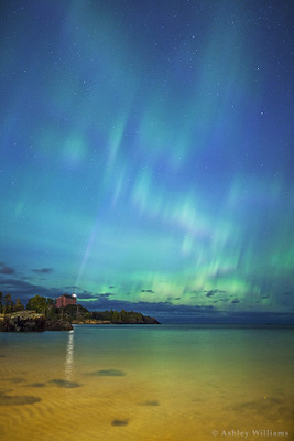 Auroras over Lake Superior