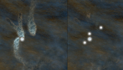 Artist's conception of the Barnard 5 star-forming core
