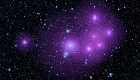 Fornax galaxy cluster, enhanced