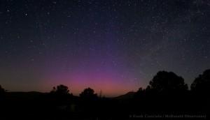 Auora near McDonald Observatory