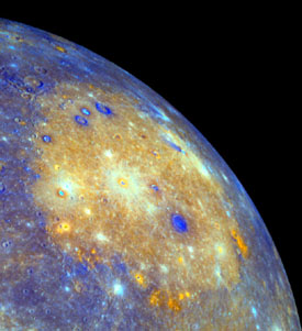 Caloris basin by Messenger