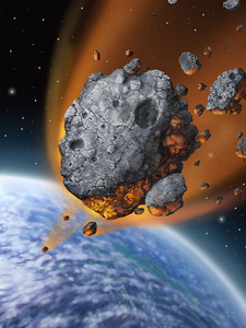 1-asteroid-falling-to-earth-painting