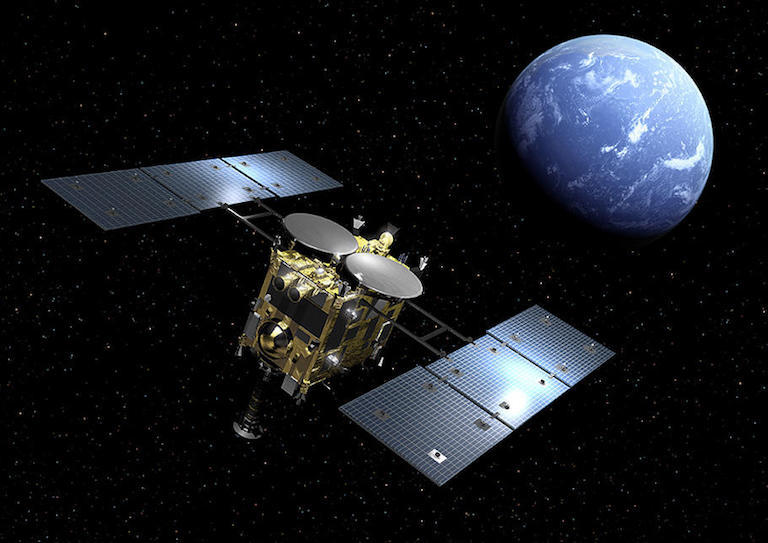 Hayabusa 2 at Earth (artist's concept)