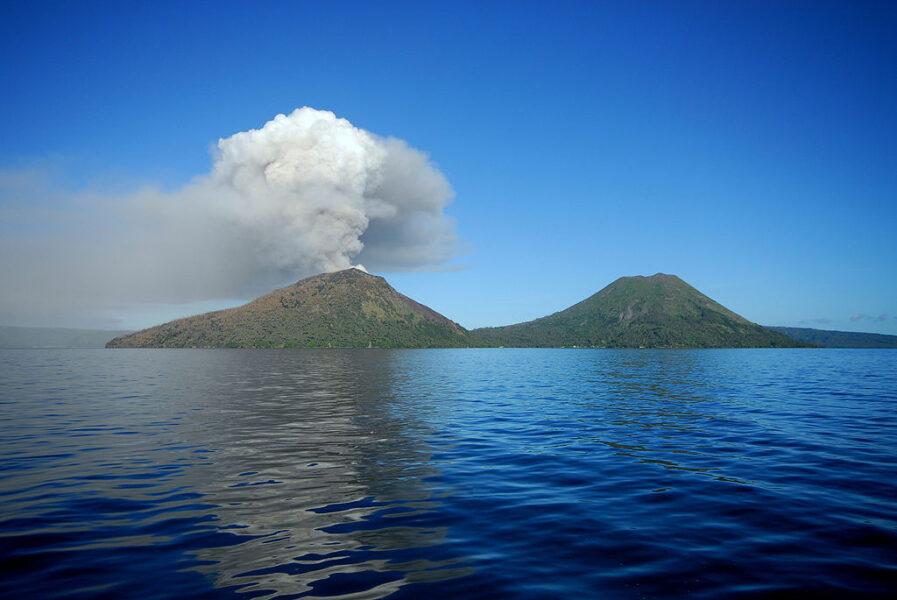 Mount Tavurvur in Papua New Guinea