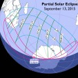 Path of September 2015's partial solar eclipse