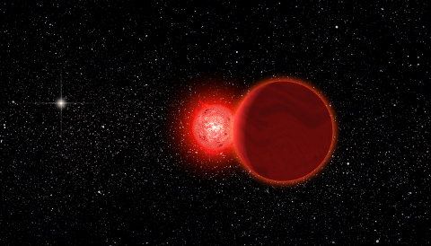 A red dwarf systems flies close by