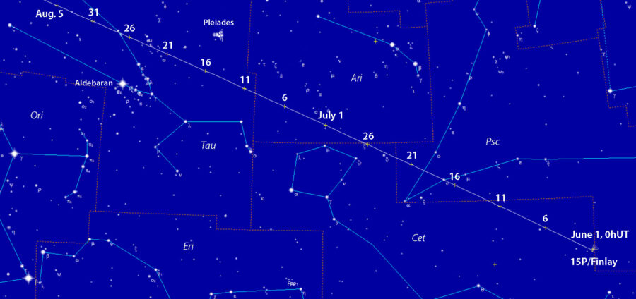 Comet 15P/Finlay finder chart
