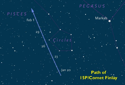 Detailed finder chart for Comet 15P/Finlay