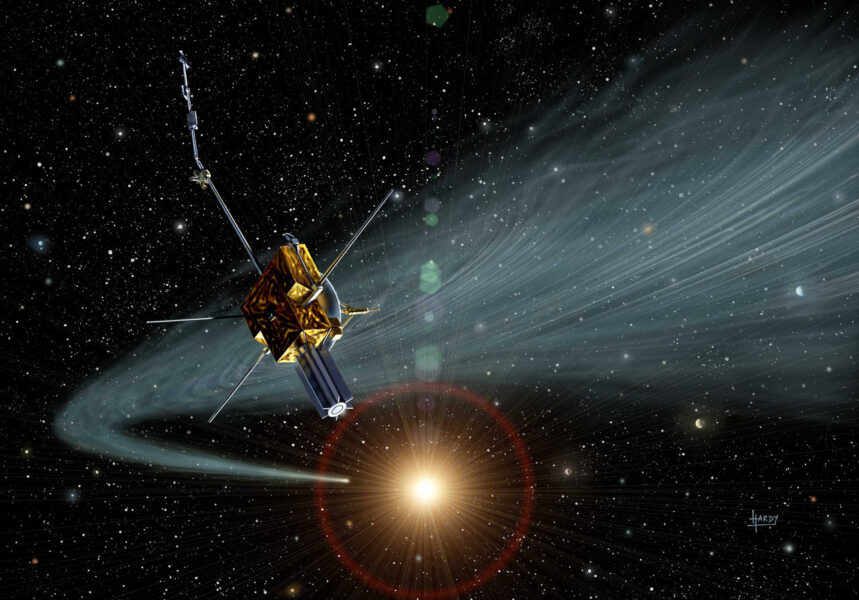 Artist's impression of the Ulysses spacecraft