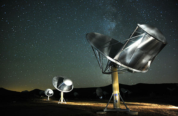 Image of the SETI Institute Allen Telescope Array
