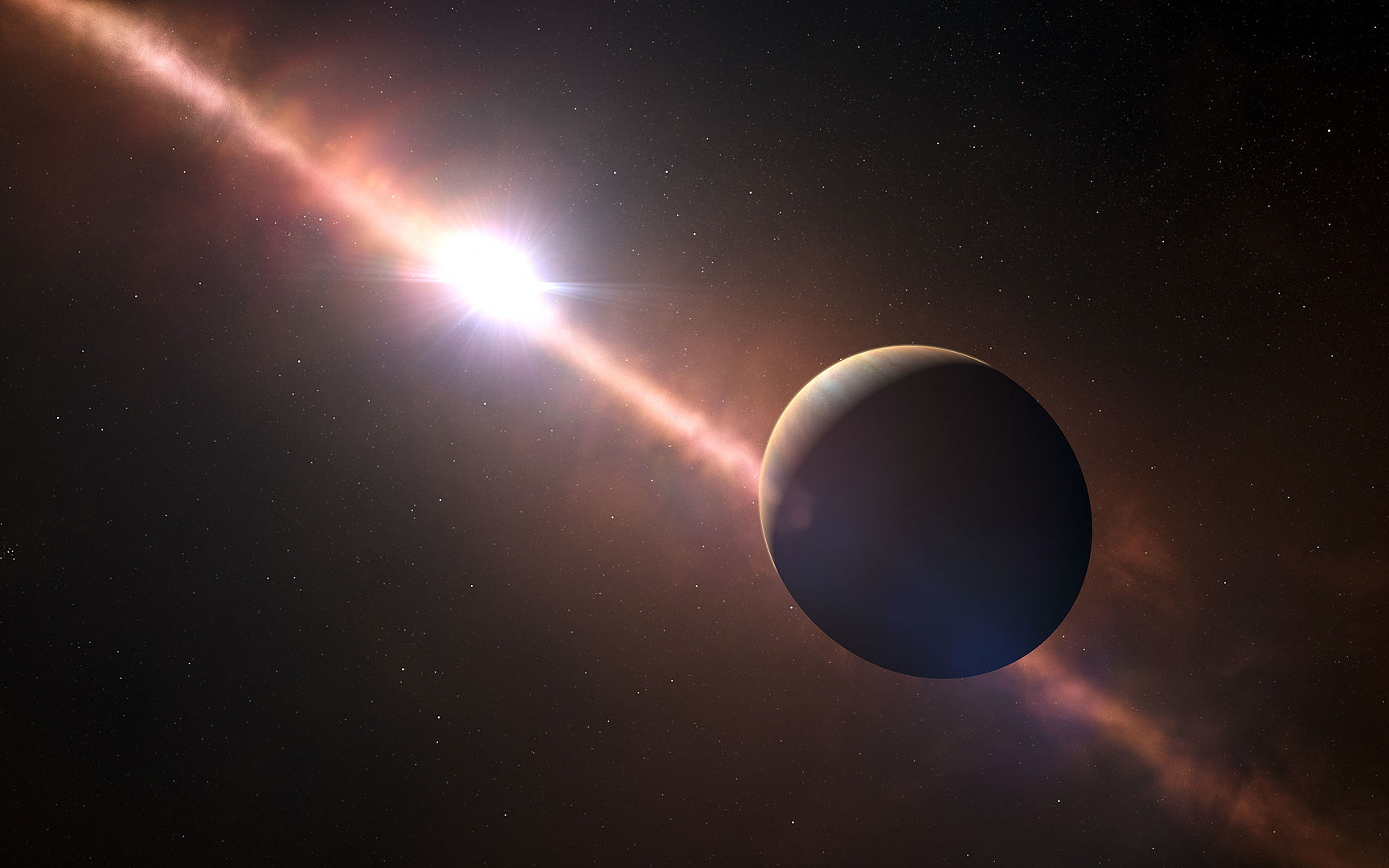 Alignment of a Star and a Planet