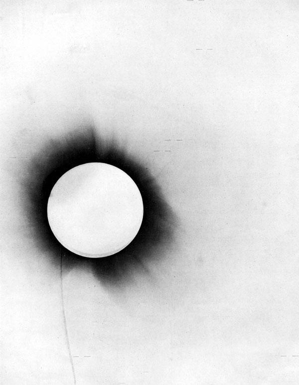 """Lights All Askew"": 1919 Solar Eclipse Plate Negative"