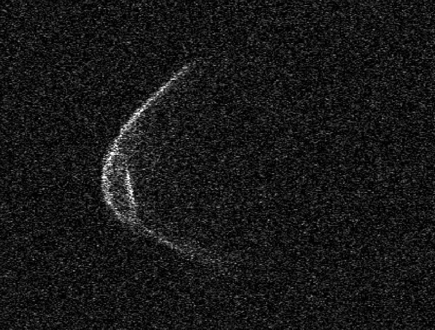 Radar image of potentially hazardous asteroid 1998 OR2