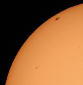 2006 Mercury transit with sunspot