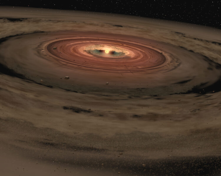 Artist's impression of planet formation.