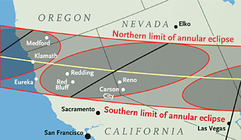Annular path across western U.S.