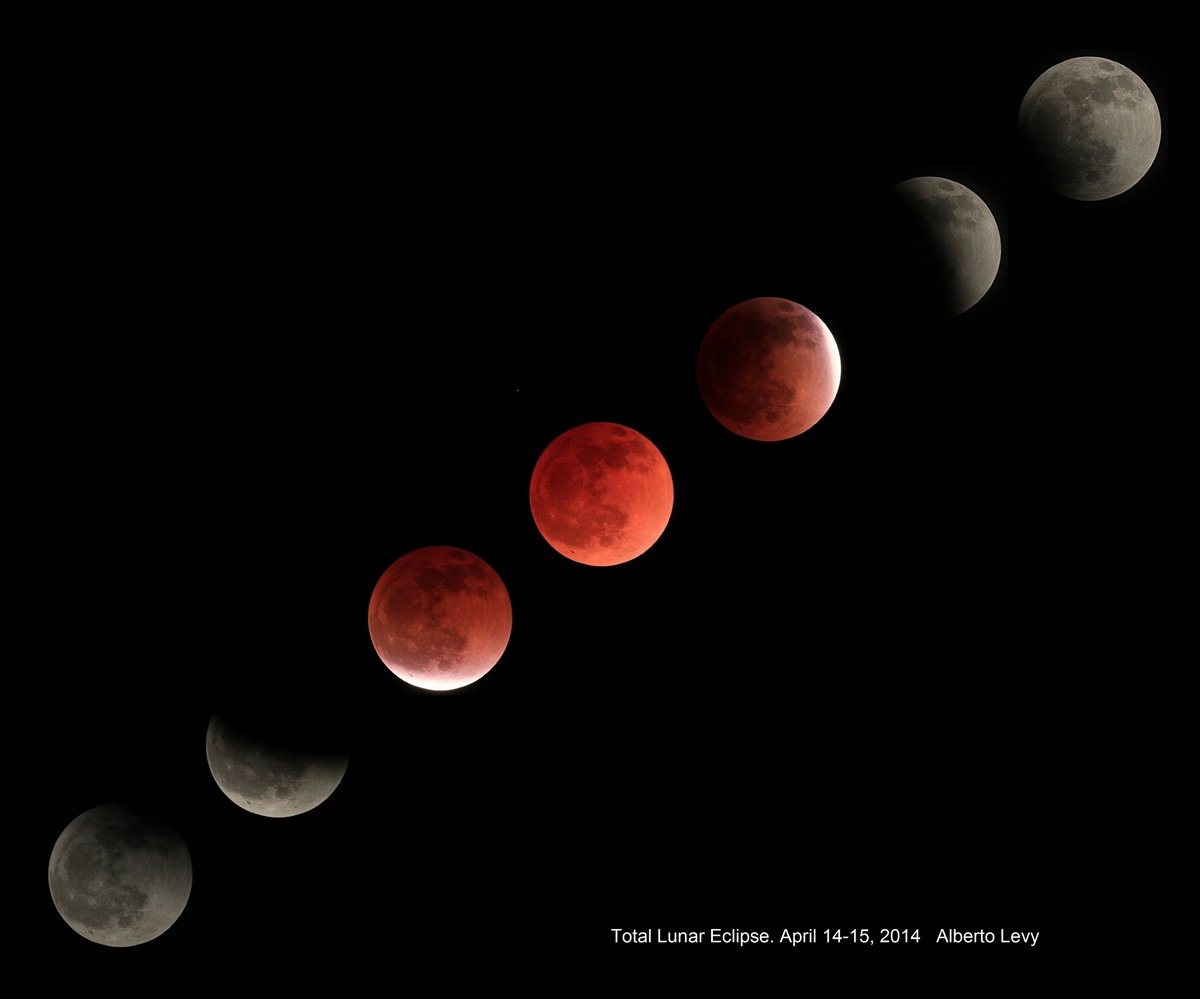 Total lunar eclipse of April 14-15, 2014