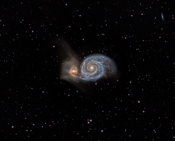 Interacting Galaxies Messier 51 And Ngc 5195 Sky Amp Telescope