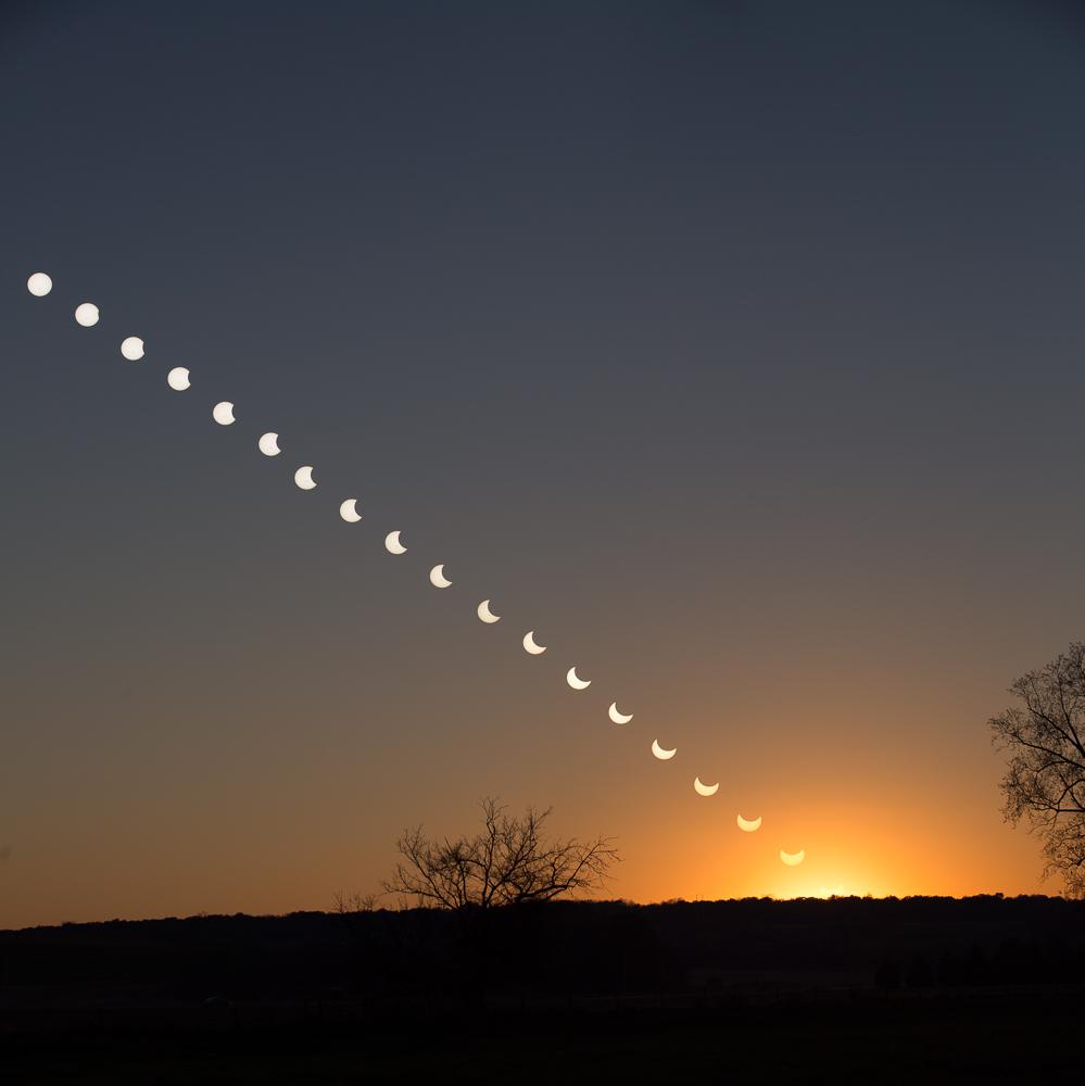 Partial eclispe, Byron, Minnesota
