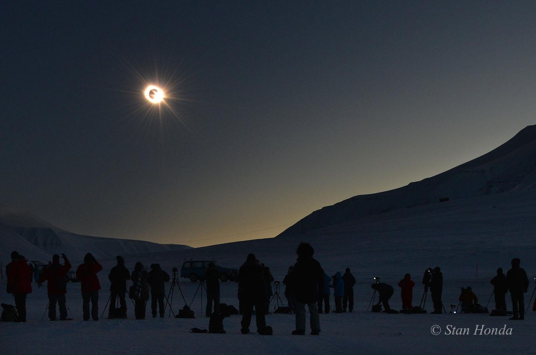 Eclipse over Svalbard