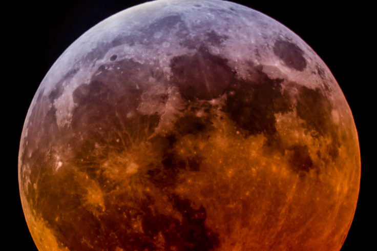 Eclipsed Moon, April 4, 2015