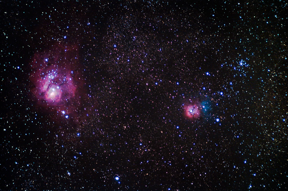 trifid and lagoon nebula - photo #7