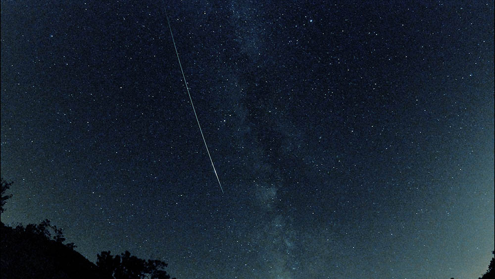 Long Earthgrazer Perseid meteor on the evening of August 12, 2015. Chris Allison photo