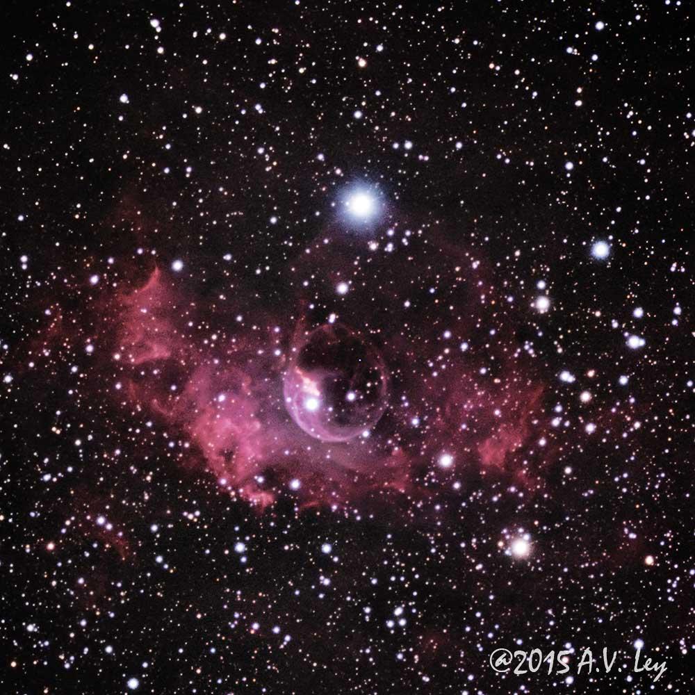 NGC 7635, The Bubble Nebula - Sky & Telescope