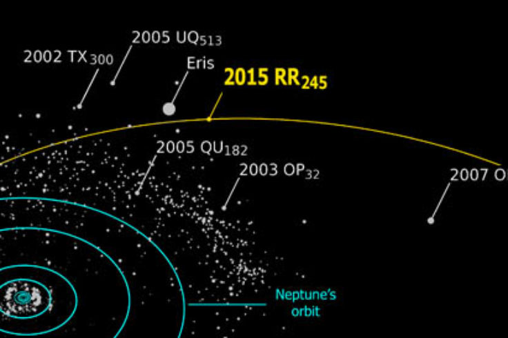 Orbit of 2015 RR245