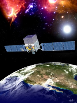 An artist's impression of the Fermi Gamma-Ray Space Telescope. Credit: NASA/General Dynamics