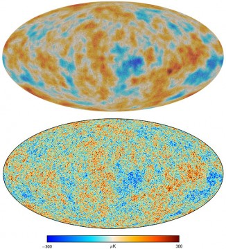 Planck polarization and temperature maps
