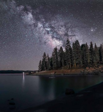 Milky Way over Shaver Lake