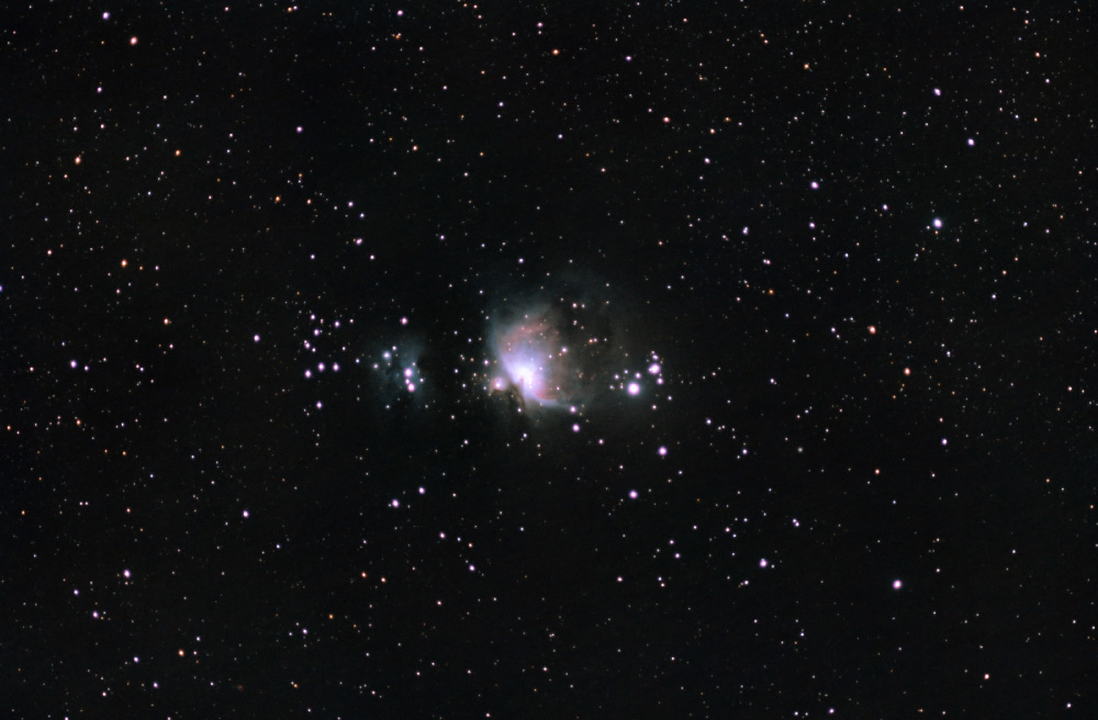 Orion nebula wide field - Sky & Telescope