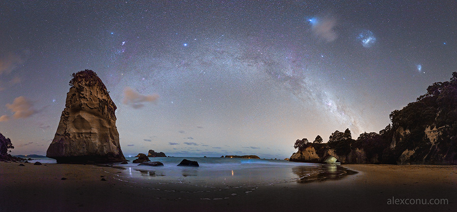 Milky Way above Cathedral Cove