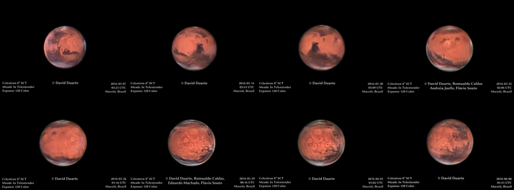 Rotation of Mars from 05/07 to 06/06/2016 - Sky & Telescope