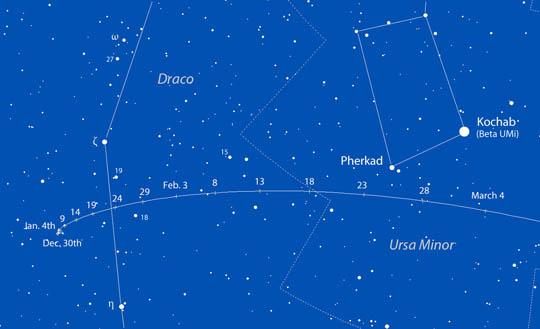 Circumpolar comet