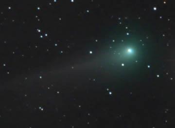 Green Comet in a Black Sea
