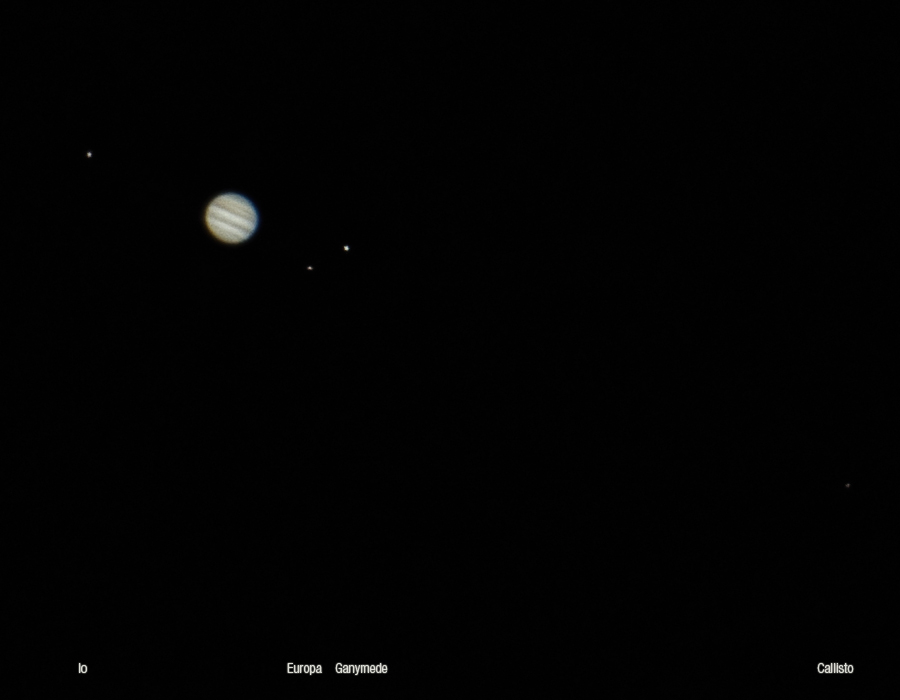 jupiter and moons through telescope - photo #36
