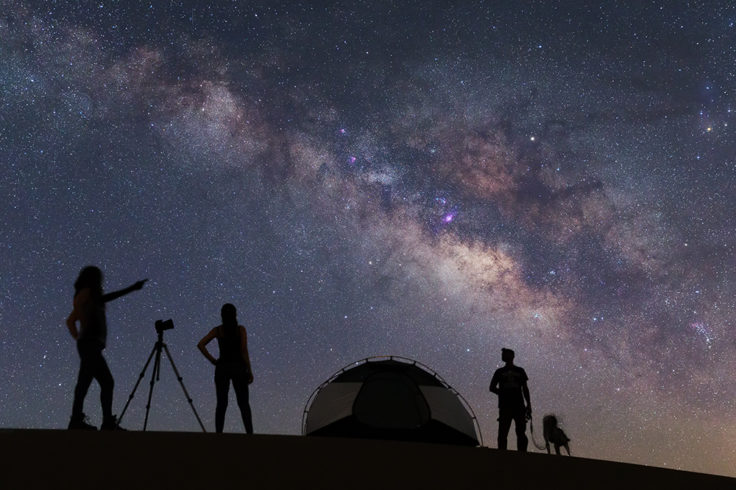 People viewing the Milky Way