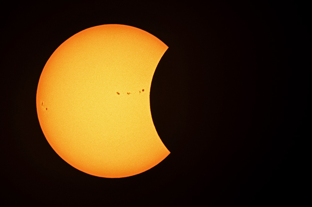 Solar Eclipse sunspots from Arlington, VA