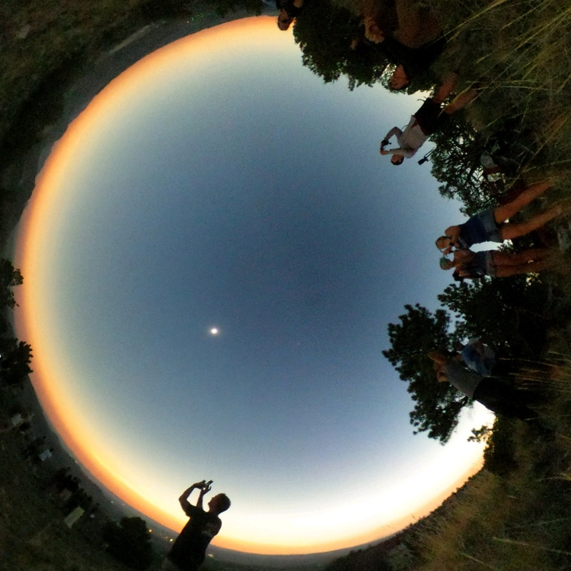 360° Sunset Just Before Noon