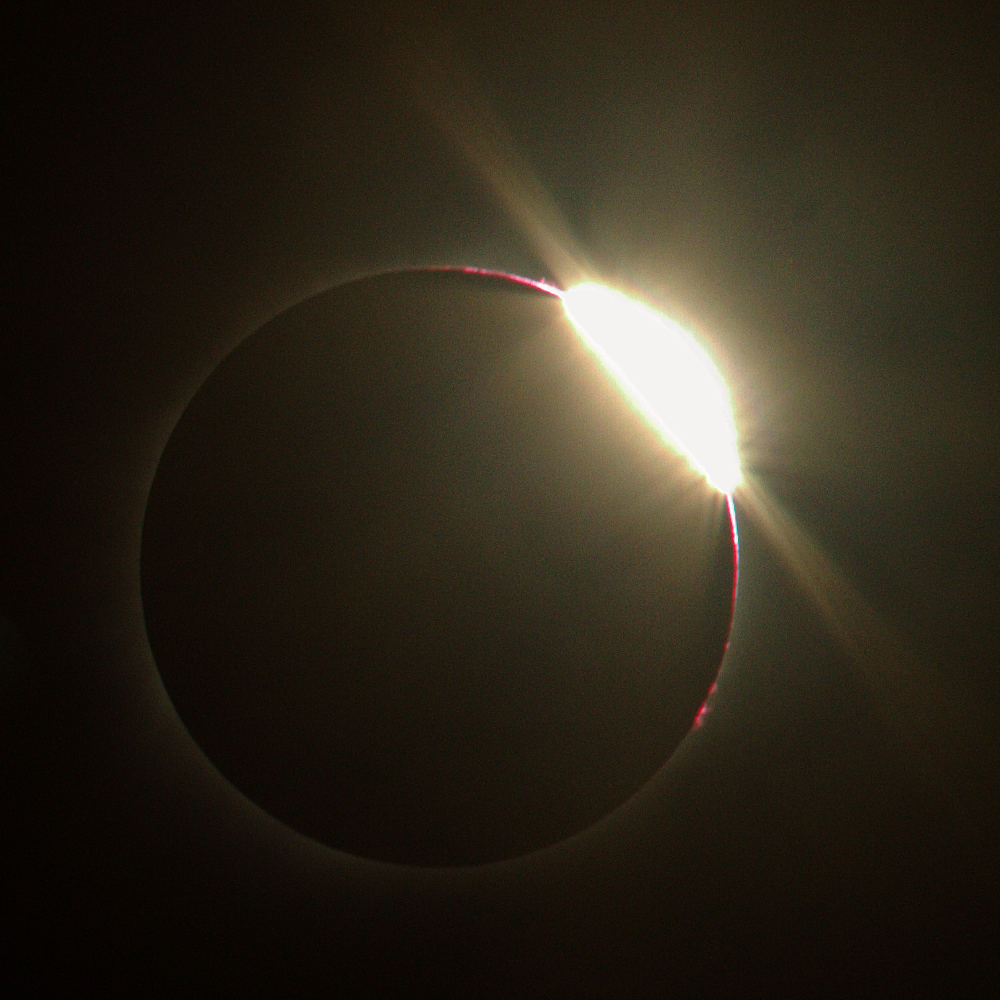 Image of 2017 total solar eclipse after end of totality