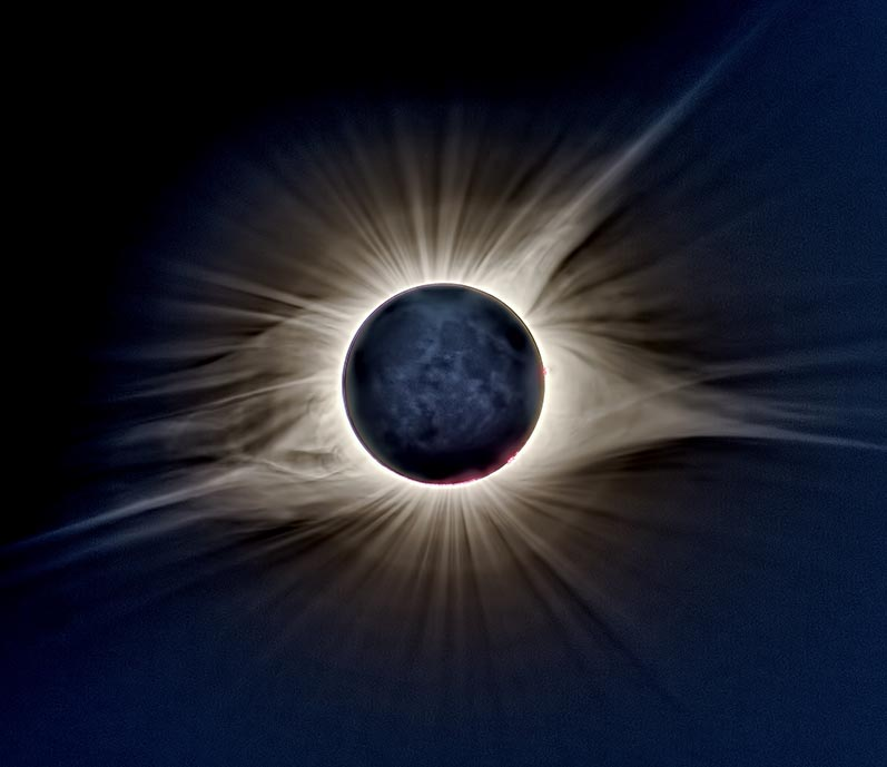Extreme HDR image of 2017 totality