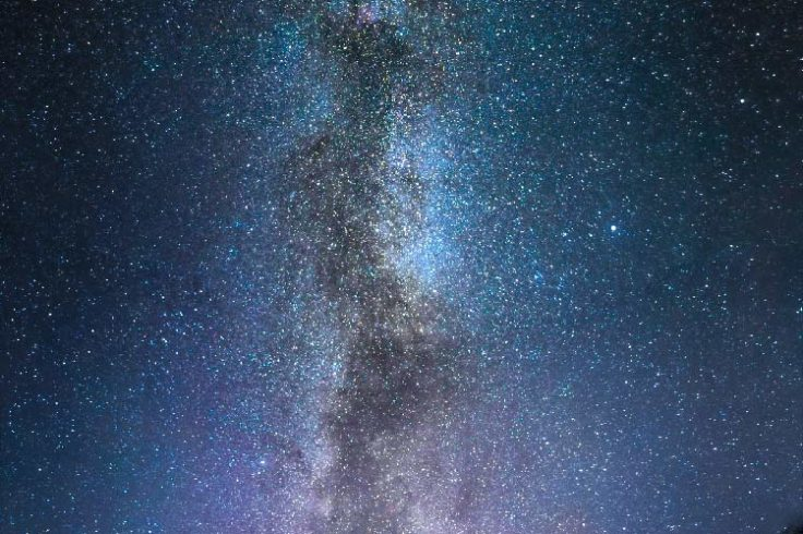 Vertical Milky Way over Estonia