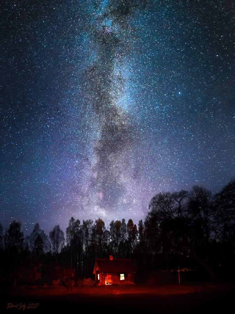 Vertical Milky Way over Estonia