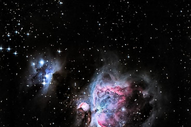 Orion Nebula and the Running Man Nebula